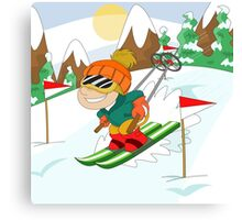 Winter Sports: Skiing Canvas Print