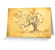 Golden Oak by David Evans Greeting Card