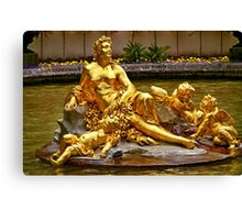 SCULPTURE IN FOUNTAIN LINDERHOF PALACE Canvas Print