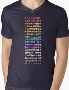 Emoji by colors Mens V-Neck T-Shirt