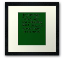 Romantic Murder Framed Print