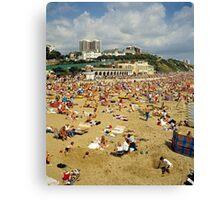 Bournemouth Beach UK, 1980s. Canvas Print