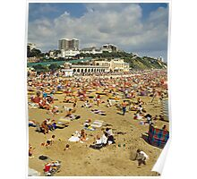 Bournemouth Beach UK, 1980s. Poster