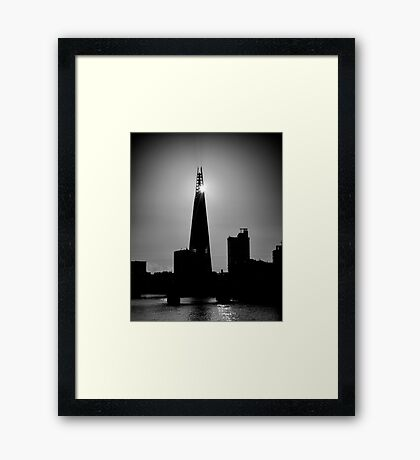 The Shard With The Morning Sun Framed Print