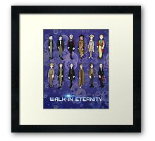 Faces of the Doctor Framed Print