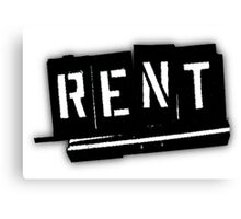 Rent The Musical Logo Canvas Print