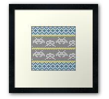 Knitted Space Invaders Framed Print