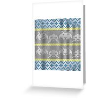 Knitted Space Invaders Greeting Card