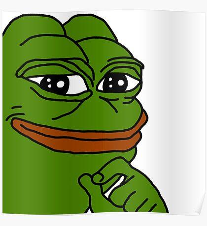 smug pepe / smug frog Poster