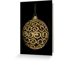 Glass Bauble (Gold) Greeting Card