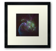 The Amount of Fruity Loops Consumed in a Lifetime as Meteors | Fractal Starscape Framed Print