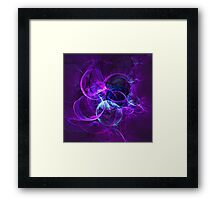 Planetary Gifts From The Universal Light | Fractal Starscape Framed Print