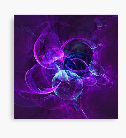 Planetary Gifts From The Universal Light | Fractal Starscape Canvas Print