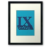 Doctor Who: IX - Eccleston Framed Print
