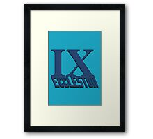 Doctor Who: IX - Eccleston Framed Print