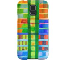 Coloured Fields With Bamboo Samsung Galaxy Case/Skin