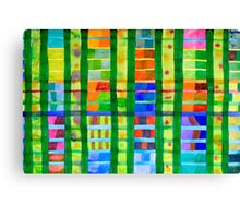 Coloured Fields With Bamboo Canvas Print