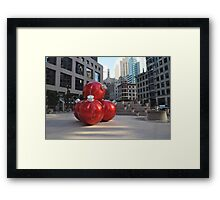 Francisco's Big X-Mas Ballz Framed Print