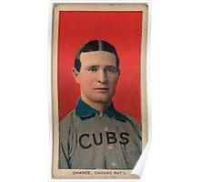 Benjamin K Edwards Collection Frank Chance Chicago Cubs baseball card portrait 003 Poster
