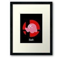 iSuck Framed Print