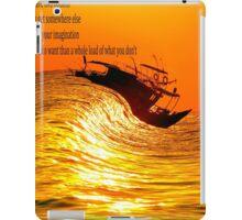 surfing boat iPad Case/Skin