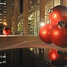 Francisco's Big X-Mas Ballz at Night, Reflected by Bob Moore