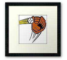 Mitt. Baseball glove. Framed Print