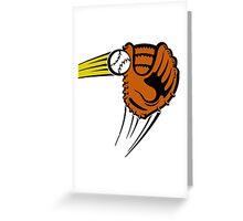 Mitt. Baseball glove. Greeting Card