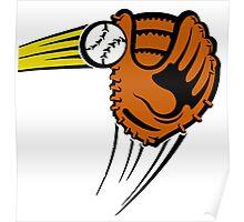 Mitt. Baseball glove. Poster