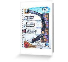 keep a global plan Greeting Card