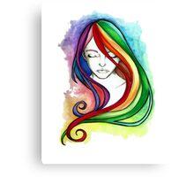 Coloured Hair Canvas Print