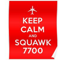 Keep Calm and Squawk 7700 Poster