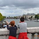 we are in Paris on the Seine ... France by Guendalyn