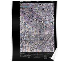 USGS Topo Map Washington State WA Puyallup 20110519 TM Inverted Poster
