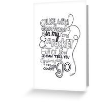 Mirrors Lyric Art Greeting Card