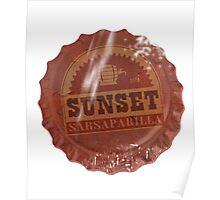 Sunset Sarsaparilla Bottle Cap Poster