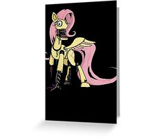 My Little Pony - MLP - FNAF -  Fluttershy Animatronic Greeting Card