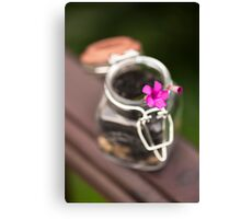 Little life in a Jar Canvas Print