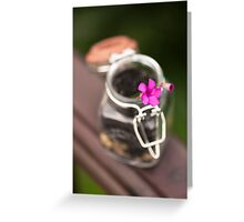 Little life in a Jar Greeting Card