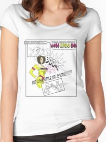 Laser Nipple Girl (storyboard) Women's Fitted Scoop T-Shirt