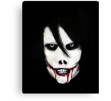 GO TO SLEEP - Jeff the Killer Canvas Print