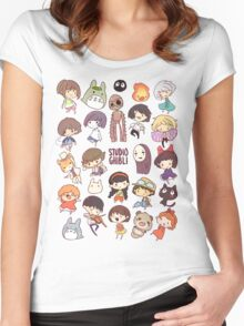 S.Ghibli Women's Fitted Scoop T-Shirt