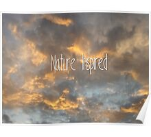 Clouds - nature inspired Poster