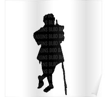 Bilbo Baggins and His Silhouette Poster