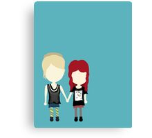 She's Rather Beautiful - Naomi and Emily Stylized Print Canvas Print