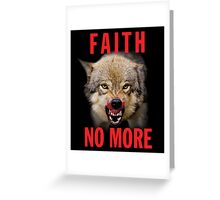 Faith No More Greeting Card