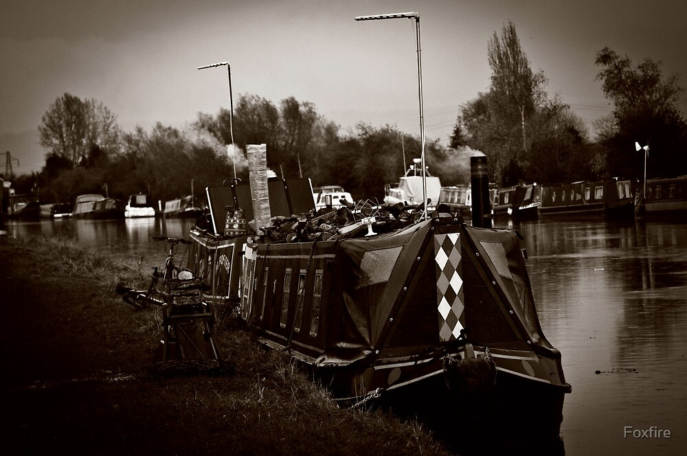 Barges on the Sharpness Canal  by ©FoxfireGallery / FloorOne Photography