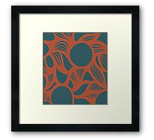 orb (orange/green) Framed Print