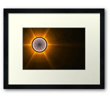 The sun is rising Framed Print