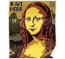 Mona Lisa Pixelated 8bit Poster